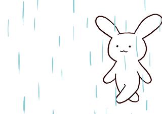 4コマ漫画「梅雨男」の1コマ目