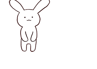 4コマ漫画「可愛いうさぎちゃん」の1コマ目