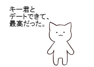 4コマ漫画「3月15日 (自作)サイコーの日」の1コマ目