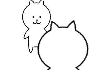 4コマ漫画「ロロロロ猫」の1コマ目