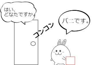 4コマ漫画「いたずら!」の1コマ目