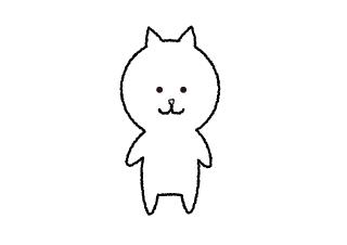 4コマ漫画「ポーズ」の1コマ目