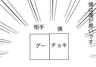 4コマ漫画「運」の1コマ目