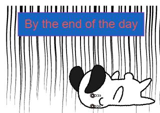 4コマ漫画「Everyday」の4コマ目