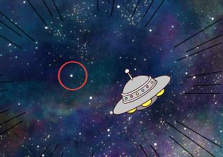 4コマ漫画「捕まった宇宙人」の2コマ目