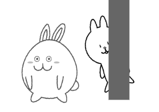 4コマ漫画「探偵うさぎ太郎」の4コマ目