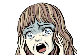 4コマ漫画「いやぁぁぁぁぁぁ!!」の2コマ目