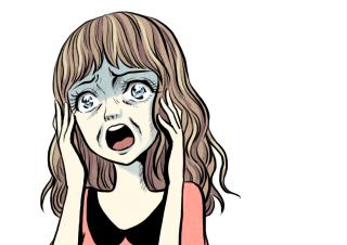 4コマ漫画「いやぁぁぁぁぁぁ!!」の3コマ目