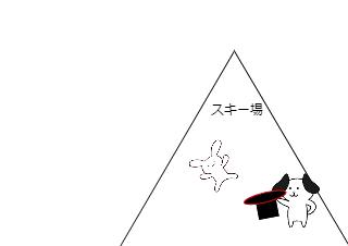 4コマ漫画「ゲレンデマジック」の4コマ目
