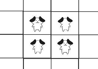 4コマ漫画「全滅」の3コマ目
