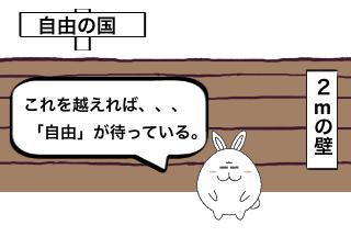 4コマ漫画「物分かりが良いウサ坊♪」の1コマ目