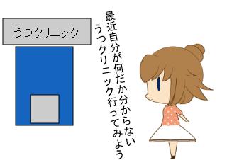 4コマ漫画「うつ1」の1コマ目