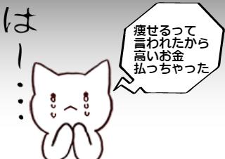 4コマ漫画「トルリシティでは痩せないわ②」の2コマ目