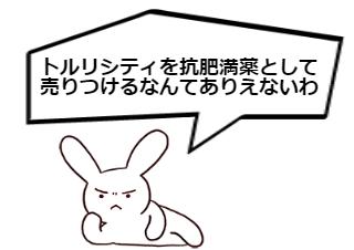 4コマ漫画「トルリシティでは痩せないわ②」の3コマ目