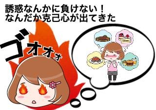 4コマ漫画「克己心が出てくるGLP1ダイエット」の2コマ目