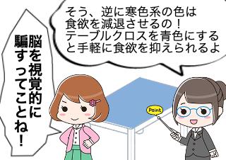4コマ漫画「GLP1は食欲中枢をコントロールする」の2コマ目