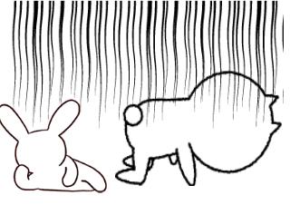 4コマ漫画「跳び箱」の4コマ目