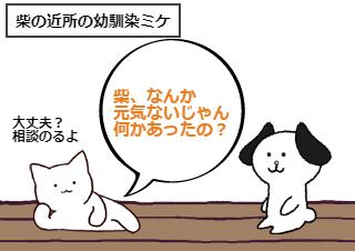 4コマ漫画「11話 すれ違い」の1コマ目