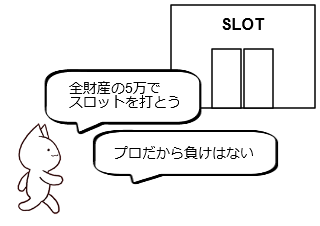 4コマ漫画「10日後に破綻するネコ~1日目~」の1コマ目