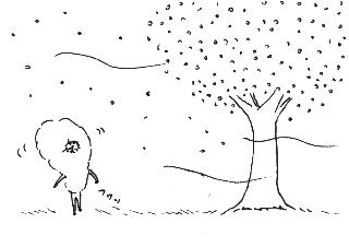 4コマ漫画「四コマまんが」の4コマ目