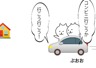 4コマ漫画「コンビニGOGO」の1コマ目