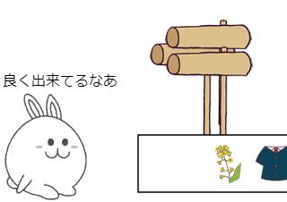 4コマ漫画「七十五日」の2コマ目