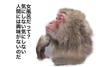 4コマ漫画「露天風呂 パート①」の2コマ目