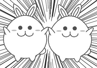 4コマ漫画「増殖」の2コマ目