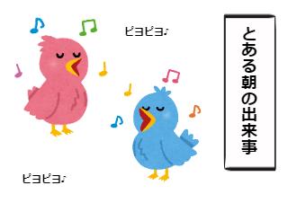 4コマ漫画「鳥さんが自由過ぎる件」の1コマ目