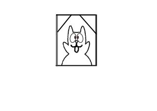 4コマ漫画「剣客ロロピンの死闘」の4コマ目