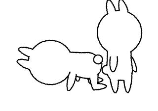 4コマ漫画「んんん?」の1コマ目