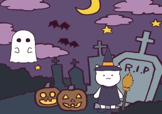 4コマ漫画「10/31 ハロウィン」の1コマ目
