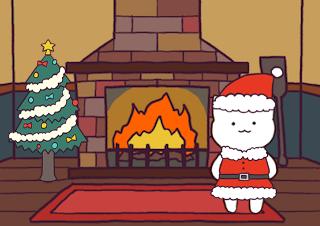 4コマ漫画「12/24 クリスマス・イブ」の1コマ目