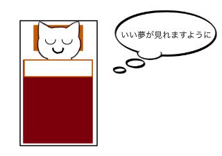 4コマ漫画「1/2 初夢」の1コマ目