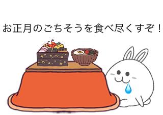 4コマ漫画「1/20 二十日正月」の1コマ目