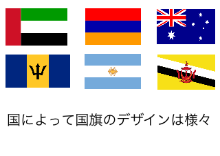 4コマ漫画「1/27 国旗制定記念日」の1コマ目