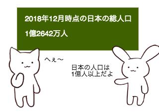 4コマ漫画「1/29 人口調査記念日」の1コマ目