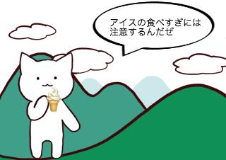 4コマ漫画「5/9 アイスクリームの日」の1コマ目