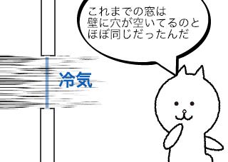 4コマ漫画「トリプルガラスが基本」の2コマ目