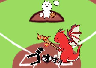 4コマ漫画「超次元野球」の2コマ目