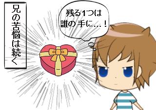 4コマ漫画「シスコン その2」の4コマ目