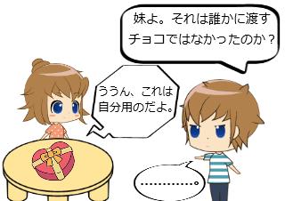 4コマ漫画「シスコン その3」の2コマ目