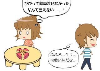 4コマ漫画「シスコン その3」の4コマ目