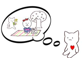 4コマ漫画「ヘクス君は春の気持ち?」の2コマ目