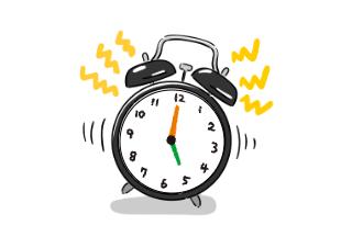 4コマ漫画「気合いだけでは早起きできない」の2コマ目