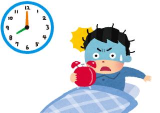 4コマ漫画「気合いだけでは早起きできない」の4コマ目