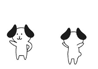 4コマ漫画「犬の」の3コマ目