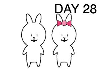 4コマ漫画「ウサギ飼いの日記」の3コマ目