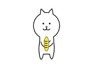 4コマ漫画「猫に小判」の1コマ目