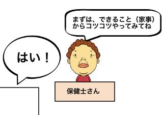 4コマ漫画「躁鬱による休職活動期④」の2コマ目